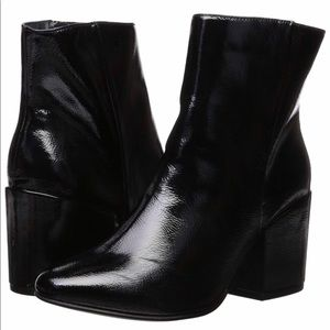 Madden girl arcade patent booties black size 5M